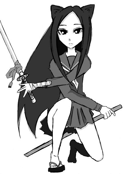 セーラー服×日本刀