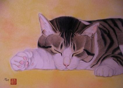 眠るシルバー