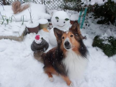 雪だるまと雪うさぎ13才(原本)