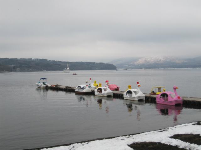 山中湖のボート
