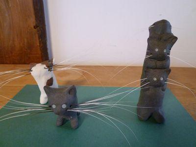 我が家のネコひげスタンドたち♪