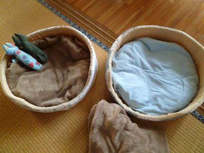 猫ベッドの衣替え
