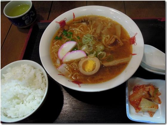 赤鬼ラーメン定食(味噌)