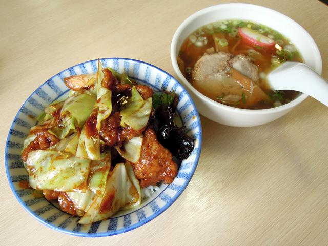 ホイコーロー丼+ミニラーメン