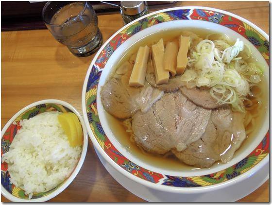 肉そばランチご飯セット