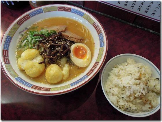 冬のラーメン・五目ご飯