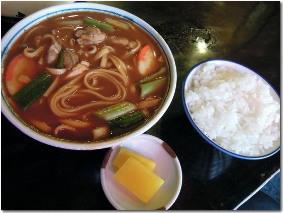 うどん+ご飯