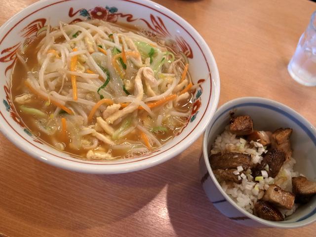 サンマー麺チャーシュー丼