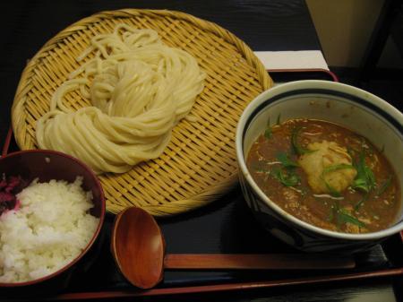 牛肉と土ごぼうの味噌カレーつけ麺