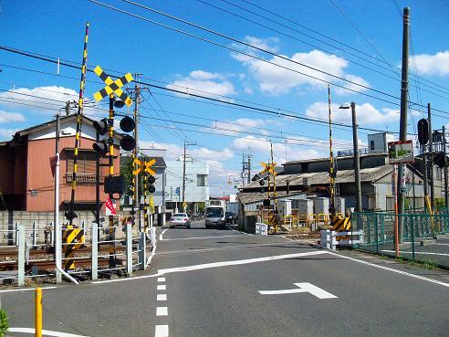 西武新宿線の入曽第1-2踏切道@狭山市A