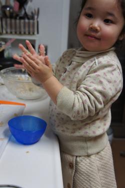 豆腐ハンバーグ作ってます!