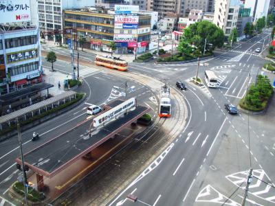 ホテル窓から松山市内線