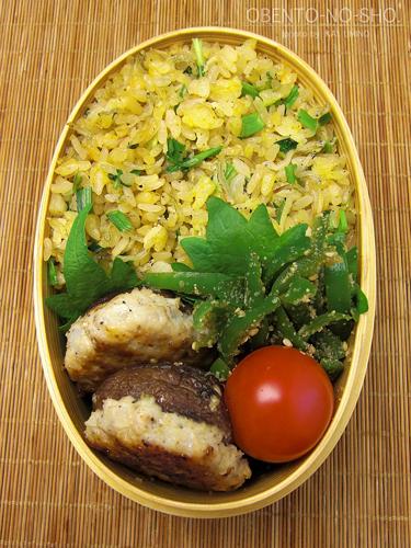 椎茸の肉詰めとじゃこ炒飯弁当02