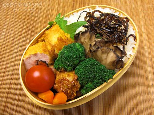 鶏の明太子チーズ巻き弁当_01