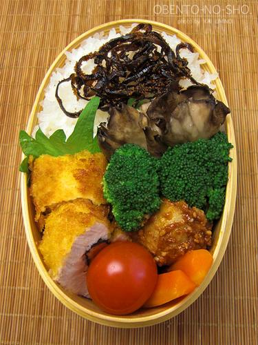 鶏の明太子チーズ巻き弁当02