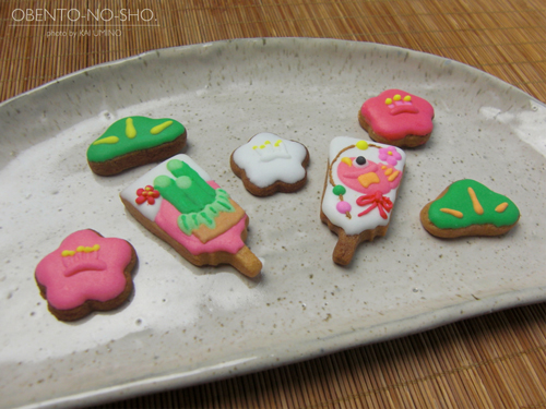 お正月なアイシングクッキー