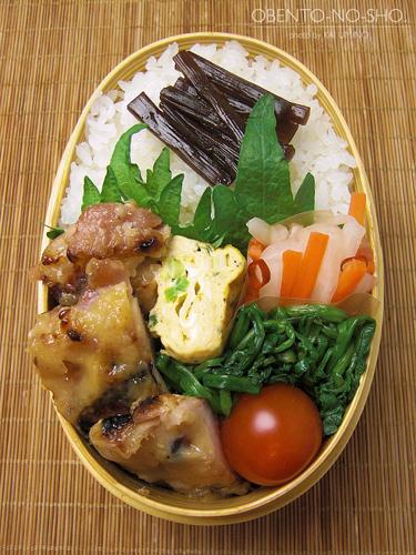 鶏の梅味噌焼き弁当02