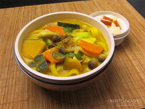 かぼちゃ麺のほうとううどん弁当01