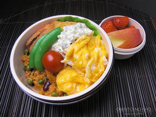 海老フライ&豆ケチャップライス弁当01