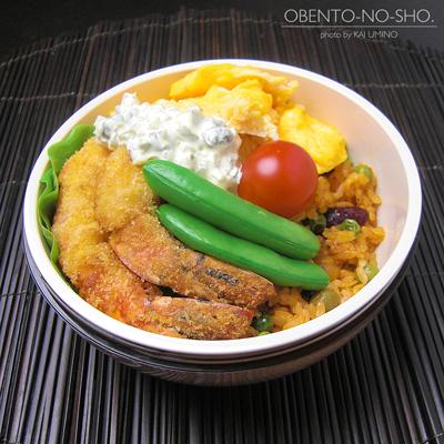 海老フライ&豆ケチャップライス弁当02