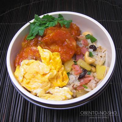 エビチリ&パイナップル炒飯弁当02