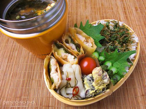 梅味噌の鶏チーズ春巻き弁当03