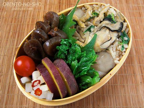 牡蠣の炊き込みご飯弁当01