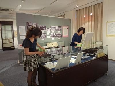 歴史資料館設営