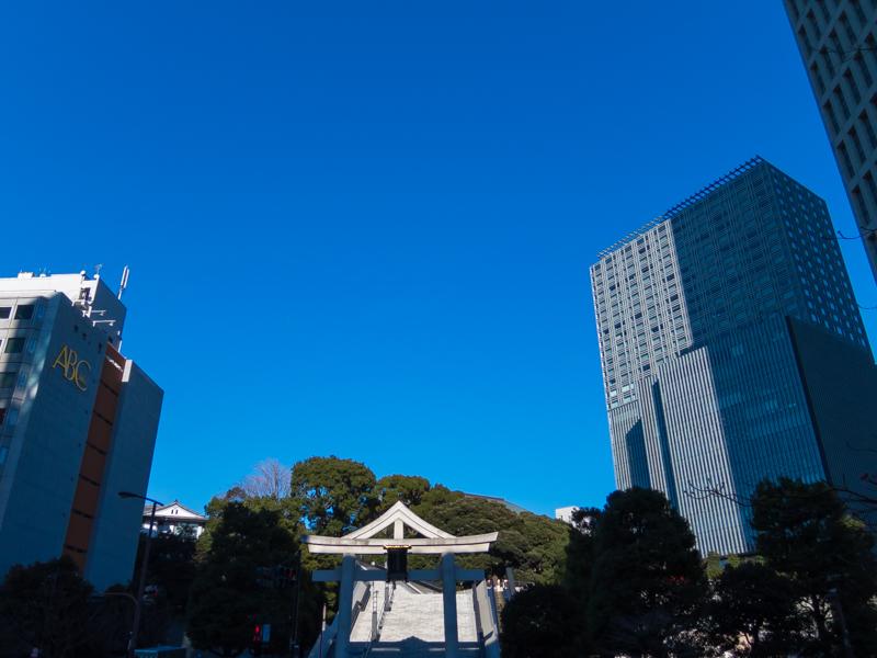 日枝神社辺りの風景