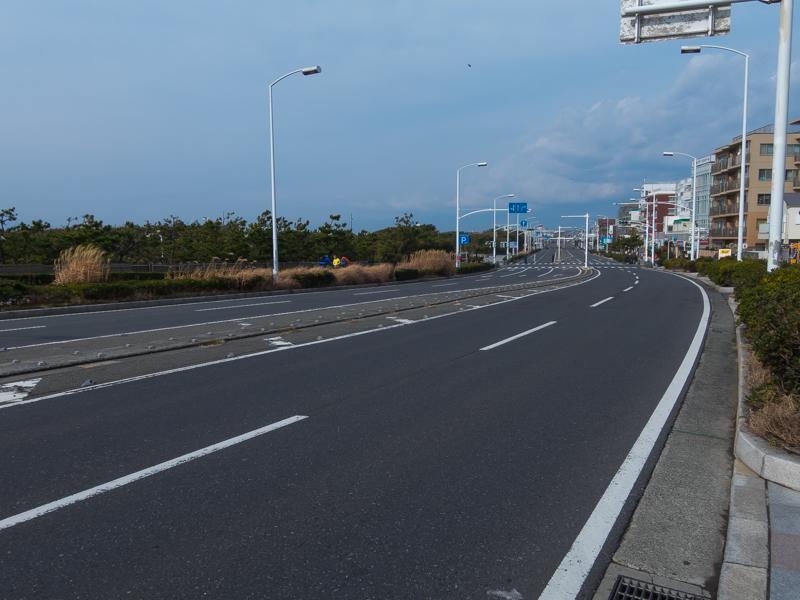 湘南藤沢市民マラソン、レース直後の国道134号