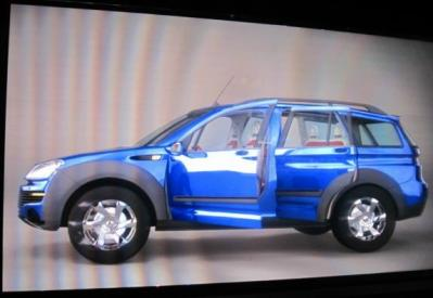 自動車3D左から
