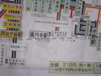 阿佐ヶ谷中村橋路線図