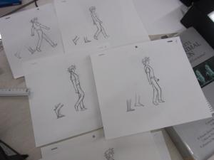「歩き」の作画