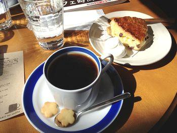 自家焙煎のコーヒーと