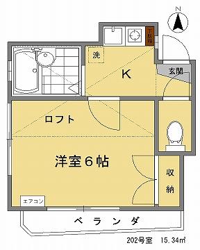ETハウス202間取図