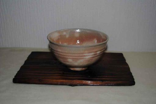 粉引萩茶碗