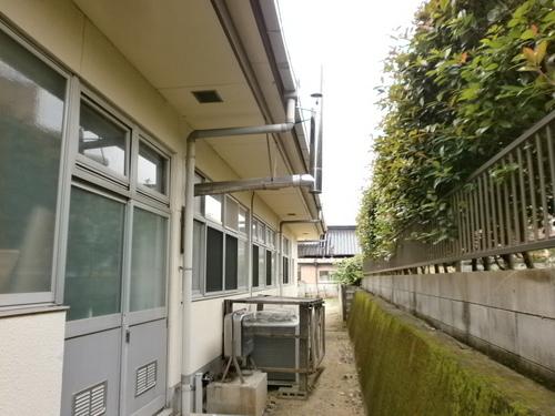山口市阿知須 O施設様 三菱パッケージエアコン天吊り形 新規取付工事