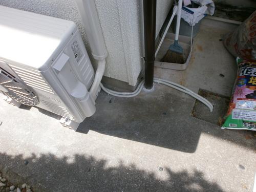宇部市西岐波 O様邸 日立エアコン RAS-SV28B 新規取付工事