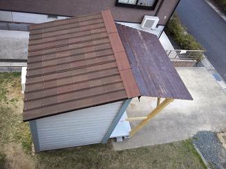 上から小屋