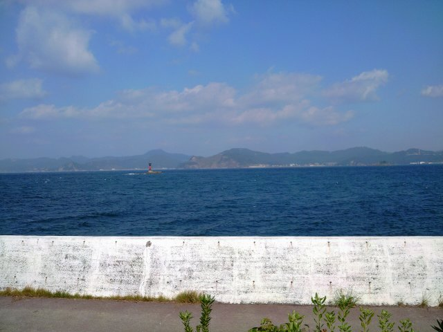 景色伊王島露天風呂からの