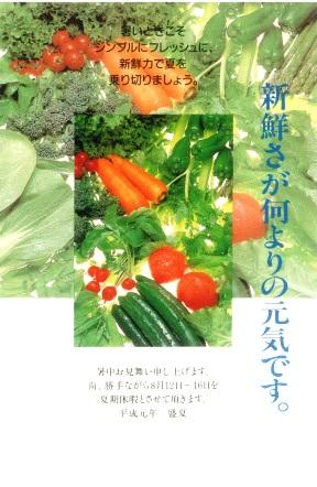 暑中新鮮野菜
