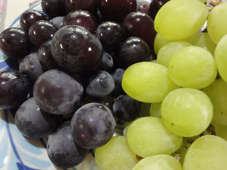 2種類の葡萄さん