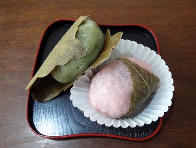 柏餅と桜餅2012