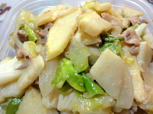 筍と豚の生姜炒め2012