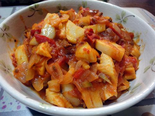 筍のトマトオリーブ油煮込み