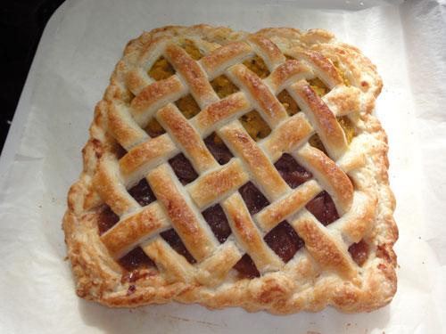 パンプキンとアップルのパイ