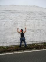 4月雪の回廊