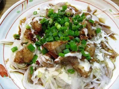 鮪のカルビ焼炒めサラダ風1