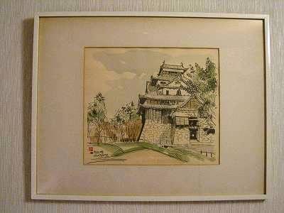松江城の絵