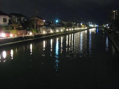 水の都 松江の夜